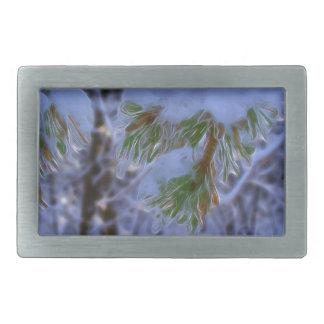 Pine Tree - Lumi Rectangular Belt Buckle