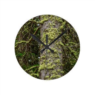 Pine_Tree_Moss Round Clock