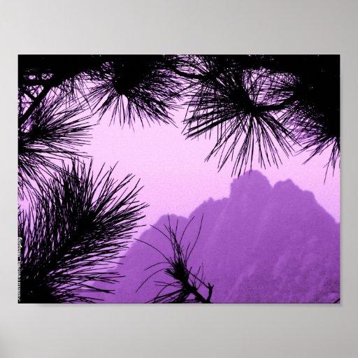Pine Tree Mountain Poster
