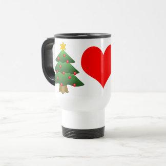 Pine Tree Red Heart Stainless Steel 15 oz  Mug
