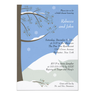 Pine Tree Winter 5x7 Bridal Shower Invitation