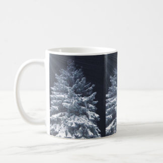 Pine Tree with Snow and Shining LightsMug Coffee Mug
