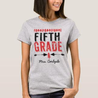 Pine Trees and Arrows Fifth Grade Teacher T-shirt