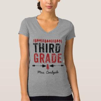 Pine Trees and Arrows Third Grade Teacher T-shirt