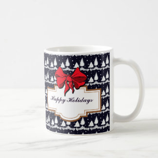 Pine Trees and Snow Happy Holidays Coffee Mug
