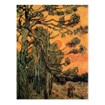 Pine Trees at Sunset by Vincent van Gogh Postcard