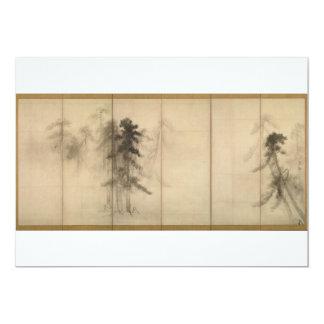 "Pine Trees by Hasegawa Tohaku 16th Century 5"" X 7"" Invitation Card"