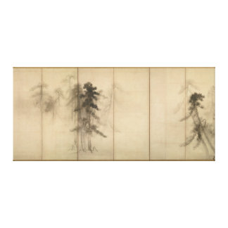 Pine Trees by Hasegawa Tohaku 16th Century Canvas Print