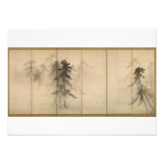 Pine Trees by Hasegawa Tohaku 16th Century Invites
