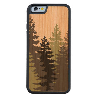Pine Trees Carved Cherry iPhone 6 Bumper Case