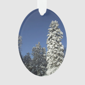 Pine Trees Covered in Snow Ornament