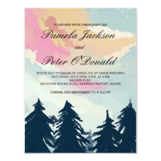 Pine Trees Forest Wedding Invitation