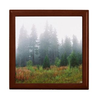 Pine Trees Forrest Tile Gift Box, Golden Oak Gift Box