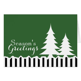Pine Trees Holiday Greeting Card