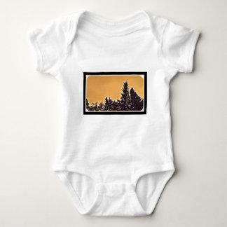 Pine Trees in Denver, CO Baby Bodysuit