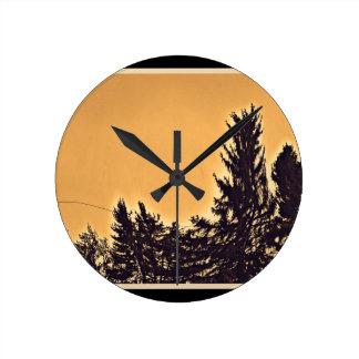 Pine Trees in Denver, CO Clock