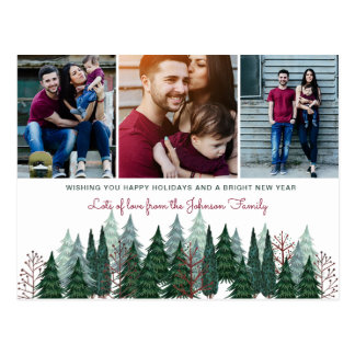 Pine Trees | Postcard | Holiday Photo Card