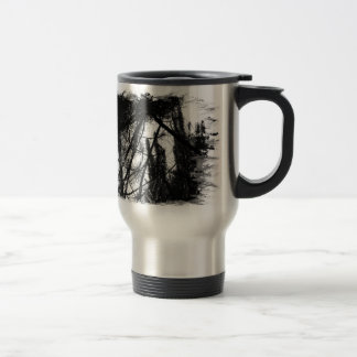 Pine Trees Sunshine Thermal Mug
