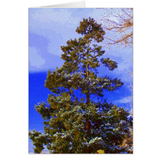 Pine with Pixilated Sky Card