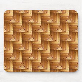 Pine Wood Herringbone Pattern Mouse Pad