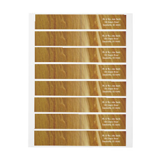 Pine Wood II Faux Wooden Texture Wrap Around Label