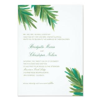 "Pine Woods Watercolor   Wedding 5"" X 7"" Invitation Card"
