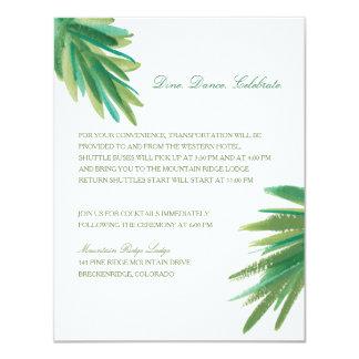 "Pine Woods Watercolor   Wedding Reception 4.25"" X 5.5"" Invitation Card"