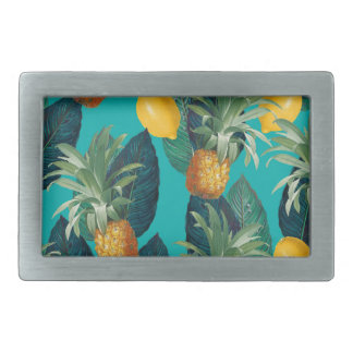 pineaple and lemons teal belt buckle