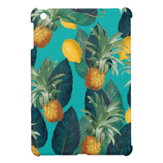 pineaple and lemons teal case for the iPad mini