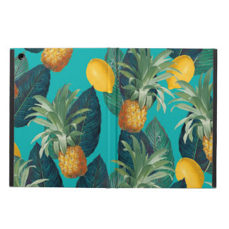 pineaple and lemons teal cover for iPad air