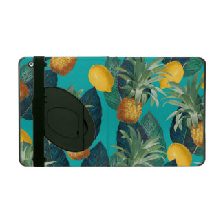 pineaple and lemons teal iPad cover