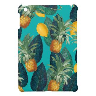 pineaple and lemons teal iPad mini cover