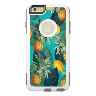 pineaple and lemons teal OtterBox iPhone 6/6s plus case