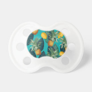 pineaple and lemons teal pacifier