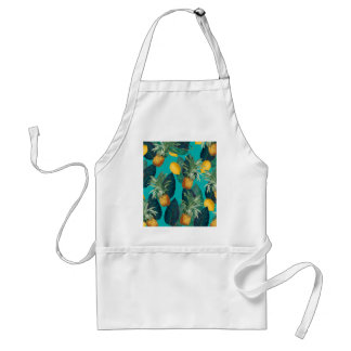 pineaple and lemons teal standard apron
