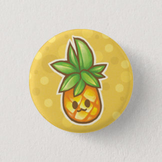 Pineapple:3 1 Inch Round Button