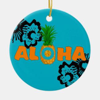 Pineapple Aloha - Beach Themed Christmas Ornaments