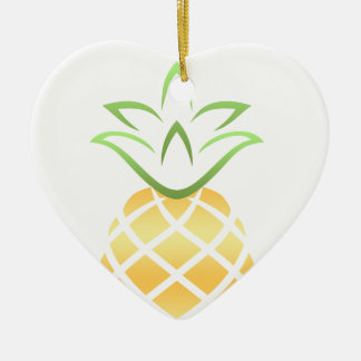 Pineapple Aloha Hawaii! Ceramic Ornament