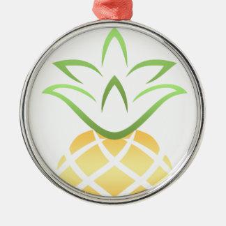 Pineapple Aloha Hawaii! Metal Ornament