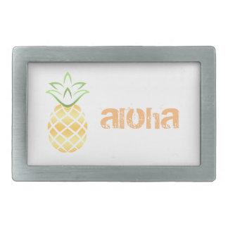 Pineapple Aloha Hawaii! Rectangular Belt Buckle