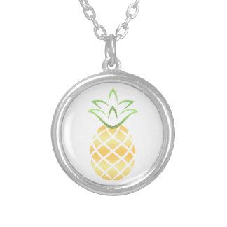 Pineapple Aloha Hawaii! Silver Plated Necklace