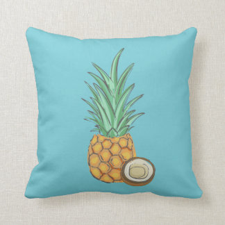 Pineapple and Coconut Throw Pillow