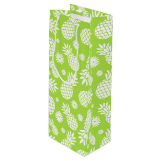 Pineapple and Daisy green white gift bag