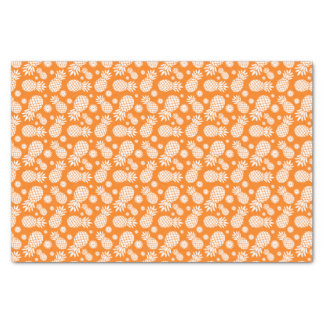 Pineapple and daisy orange white tissue paper