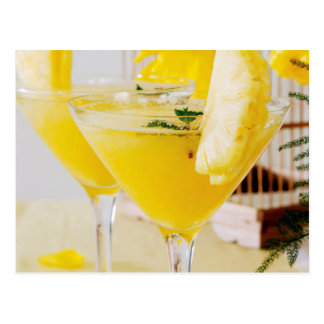 Pineapple and ginger Fresca cocktail Postcard