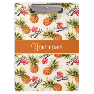 Pineapple and Hibiscus Clipboards