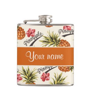 Pineapple and Hibiscus Flask