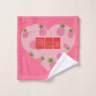 Pineapple Bae love partner Wash Cloth