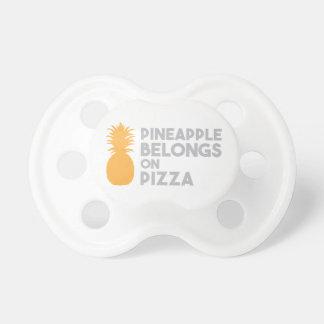 Pineapple Belongs On Pizza Baby Pacifiers