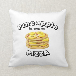 Pineapple belongs on Pizza Pillow-2 sided print Throw Pillow
